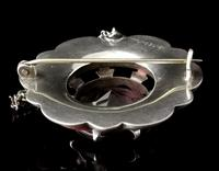 Victorian Scottish Agate & Amethyst Brooch, Sterling Silver (9 of 11)