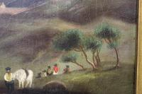 Folk Art. Oil Painting. The Falls of Ogwen. North Wales 1840 (6 of 11)