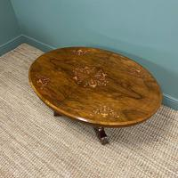 Spectacular Inlaid Walnut Antique Coffee Table (5 of 7)