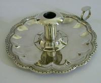 Huge Heavy Mexican Solid Sterling Silver Chamberstick Candlestick Holder c.1930