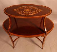 Mahogany Etegair with Marquetry Inlay (4 of 11)