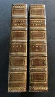 1815 Large Full Leather Bound Holy Bibles with Inscription for An 1860 Shipwreck - Complete in 2 Volumes