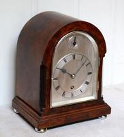 Burr Walnut Arch Top Bracket Clock (2 of 11)
