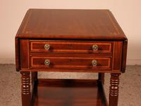 Pembroke Table In Mahogany & Inlay 19th Century - England (5 of 16)