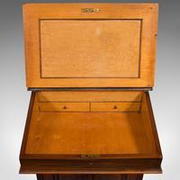 Antique Davenport, English, Walnut, Bird's Eye Maple, Writing Desk, Victorian (8 of 12)