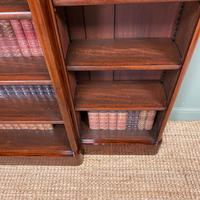 Spectacular Victorian Figured Mahogany Antique Breakfront Open Bookcase (6 of 6)