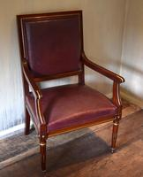 Pair of French Directoire Leather Armchairs (7 of 16)
