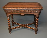 Carved Oak Centre Table (2 of 2)