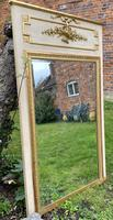 French Painted & Gilded Trumeau Mirror (6 of 6)