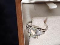 Vintage Deco Design 2.81 Carat Emerald Cut Diamond & Platinum Ring (3 of 10)