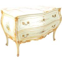 Large Antique Venetian Marble Top Commode