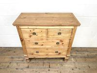 Small Victorian Pine Chest of Drawers (5 of 10)