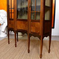 Edwardian Glazed Bookcase Inlaid Mahogany (8 of 9)