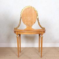 Neoclassical Marble Dressing Table Gilt Mirrored Vanity Satinwood (2 of 14)
