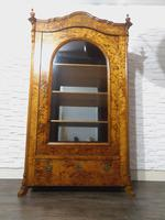 Antique Blonde Biedermeier Display Cabinet