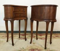 Vintage French Cherrywood Cabinets Kidney Shaped Bedside Tables (2 of 10)