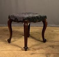 Useful Victorian Rosewood Stool (3 of 11)