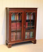 Mahogany Gothic Glazed Bookcase (9 of 11)