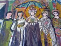 2 Moya Cozens Slade School, Mid Century Modern British Paintings (5 of 7)