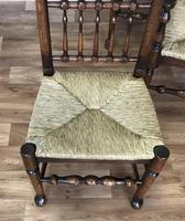 Set of Six Oak Spindle Back Dining Chairs (2 of 12)