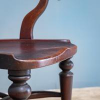 19th Century Mahogany Office Chair (3 of 8)