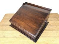 19th Century Antique Oak Table Top Writing Slope (6 of 8)