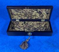 William IV Rosewood Glove Box with Brass Inlays (10 of 11)
