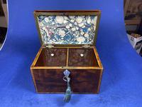 18th Century Mahogany Twin Tea Caddy with Shell Inlay (7 of 17)