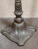 French Art Deco Bronzed Standard Lamp C1910 (5 of 11)