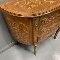 French Marquetry Demi Lune Commode (2 of 7)