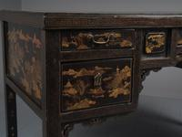 Chinese Gilded & Black Lacquered Desk (12 of 20)