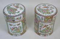 Fabulous Large Pair Chinese Famille Rose Opium Jars (9 of 12)