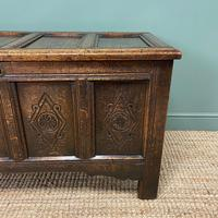 17th Century Period Oak Antique Carved Coffer (5 of 8)