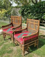 Pair of Moorish Middle Eastern Ottoman Islamic Throne Chairs - Liberty's of London / Liberty & Co (5 of 6)