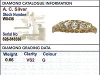 0.66ct Diamond & 18ct Yellow Gold Five Stone Ring - Antique Victorian (6 of 9)