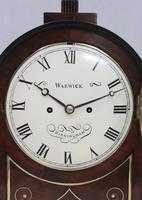 English George IV Mahogany Bracket Clock by Warwick (3 of 9)