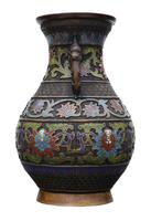 Late 19th Century quality Chinese bronze cloisonne vase (7 of 7)