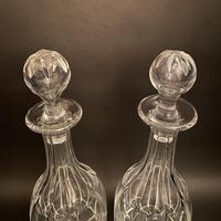 Pair of Early Edwardian Crystal Decanters (2 of 3)