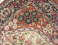 Fine Silk Carpet Rug Roses (7 of 9)