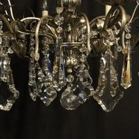 Italian Silver & Crystal Genoa 8 Light Chandelier (2 of 10)