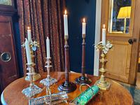 19th Century Wooden Turned Candlesticks (5 of 8)