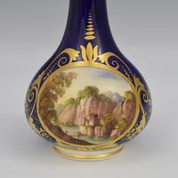 Georgian Derby Porcelain Scent Bottle Landscape View c.1815 (2 of 8)