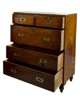 19thc Mahogany Original Campaign Chest (2 of 7)