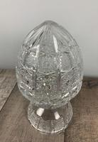 Cut Glass Mushroom Table Lamp, Rewired & PAT Tested c.1920 (6 of 9)
