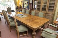 English Blonde Oak Dining Table  and 10 Matching Chairs (3 of 6)