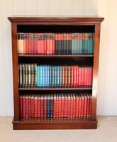Late 19th Century Mahogany Open Bookcase c.1890 (3 of 11)