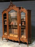 Wonderful French Walnut Bookcase or Cabinet (14 of 25)