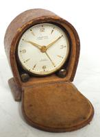 Antique Travelling Mantel Clock with Original Leather Outer Case 8-Day Mantel Clock by Looping with 7 Jewels (7 of 9)