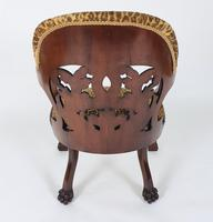 Mid-19th Century French Carved Walnut Desk Chair (7 of 12)