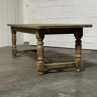 Nice Large Bleached Oak Farmhouse Dining Table With Extensions (22 of 35)